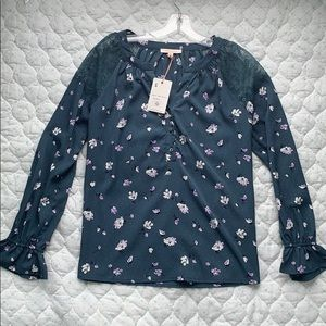 Skies Are Blue Floral Top - S - NWT